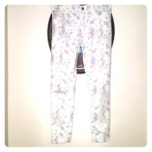 Sanctuary White Floral Jeans